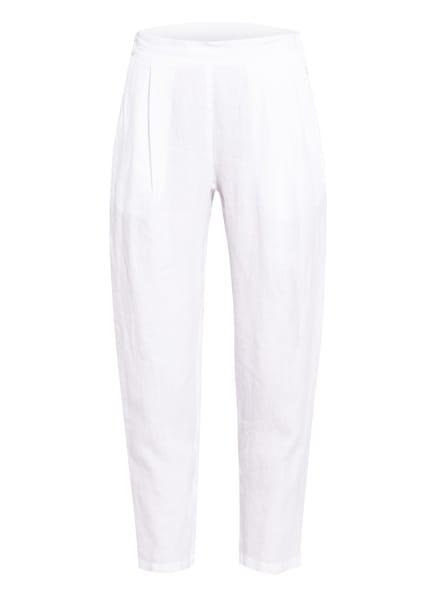 120%lino 7/8-Hose aus Leinen, Farbe: WEISS (Bild 1)
