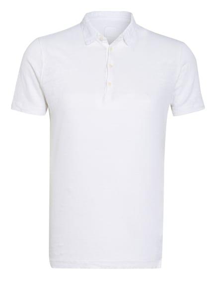120%lino Jersey-Poloshirt Slim Fit aus Leinen, Farbe: WEISS (Bild 1)