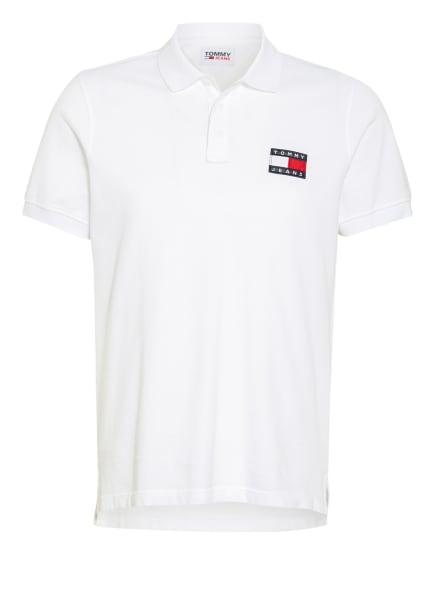 TOMMY JEANS Piqué-Poloshirt , Farbe: WEISS (Bild 1)