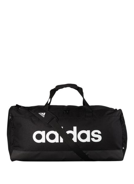 adidas Sporttasche LINEAR DUFFEL L, Farbe: SCHWARZ/ WEISS (Bild 1)