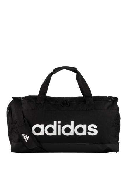 adidas Sporttasche LINEAR DUFFLE M, Farbe: SCHWARZ/ WEISS (Bild 1)
