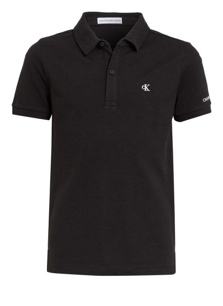 Calvin Klein Piqué-Poloshirt, Farbe: SCHWARZ (Bild 1)