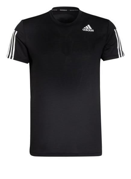 adidas T-Shirt AEROREADY mit Mesh-Einsatz, Farbe: SCHWARZ/ WEISS (Bild 1)