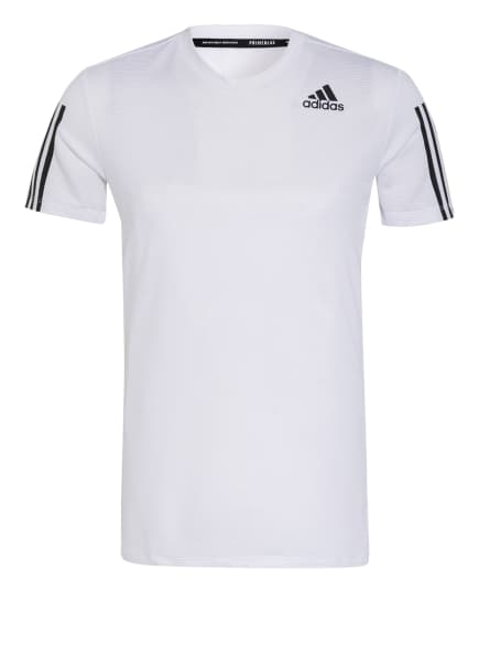 adidas T-Shirt AEROREADY mit Mesh-Einsatz, Farbe: WEISS (Bild 1)