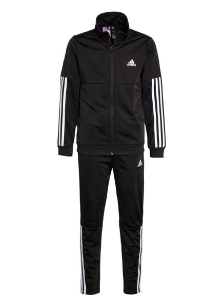 adidas Trainingsanzug, Farbe: SCHWARZ/ WEISS (Bild 1)