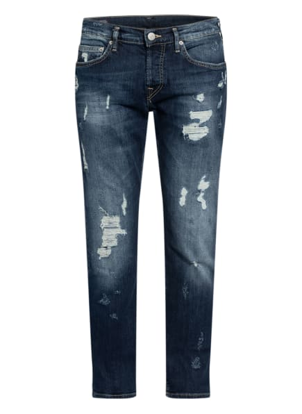 TRUE RELIGION Destroyed Jeans ROCCO Relaxed Skinny Fit, Farbe: 4000 BLUE DENIM (Bild 1)