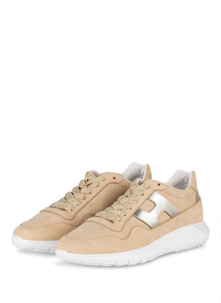 HOGAN Plateau-Sneaker INTERACTIVE3, Farbe: BEIGE/ GOLD (Bild 1)