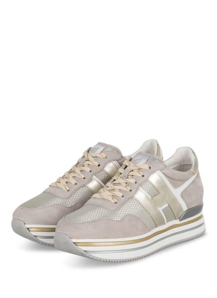 HOGAN Plateau-Sneaker MIDI H222 , Farbe: CREME/ GOLD/ HELLGRAU (Bild 1)