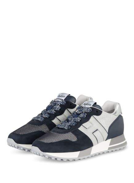 HOGAN Sneaker H383 , Farbe: DUNKELBLAU/ SILBER (Bild 1)