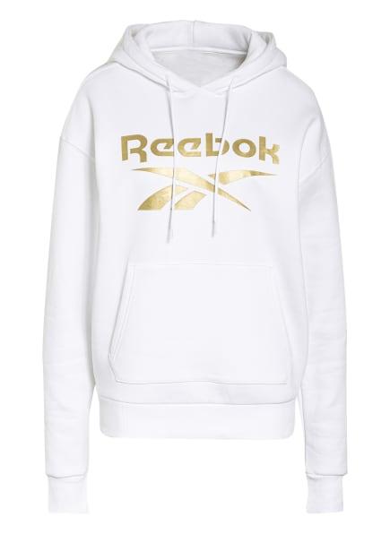 Reebok Hoodie IDENTITY, Farbe: WEISS/ GOLD (Bild 1)