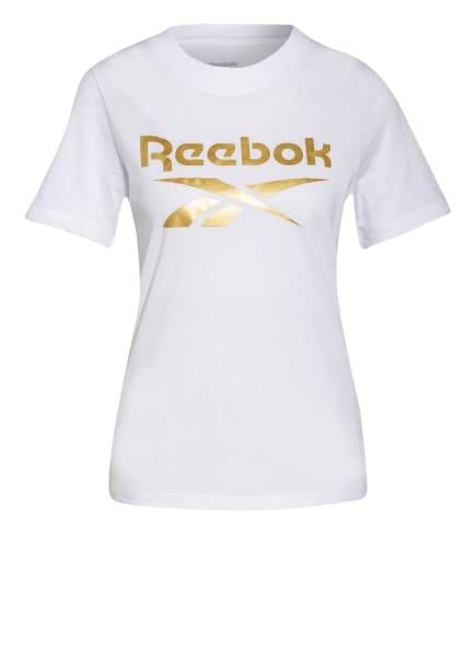 Reebok T-Shirt IDENTITY, Farbe: WEISS/ GOLD (Bild 1)