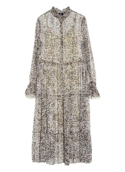 RIANI Kleid mit Glitzergarn , Farbe: CREME/ BEIGE/ DUNKELBRAUN (Bild 1)