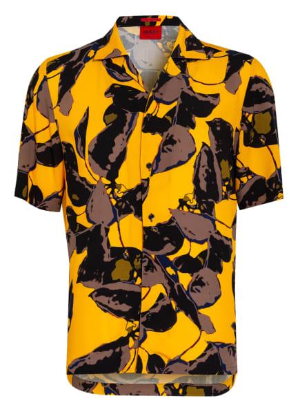 HUGO Resorthemd Relaxed Fit, Farbe: SCHWARZ/ GELB/ GRAU (Bild 1)