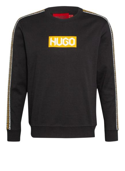 HUGO Sweatshirt DUBESHI mit Galonstreifen, Farbe: SCHWARZ (Bild 1)