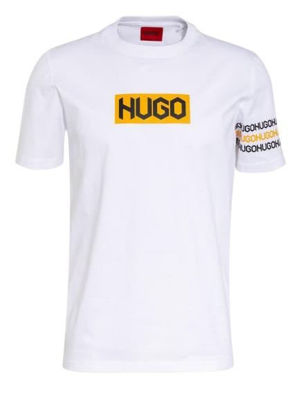 HUGO T-Shirt DAKE , Farbe: WEISS/ SCHWARZ/ GELB (Bild 1)