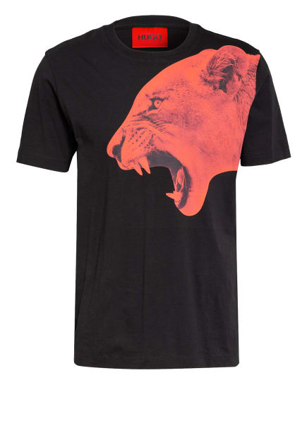 HUGO T-Shirt DENBEI, Farbe: SCHWARZ/ ROT (Bild 1)