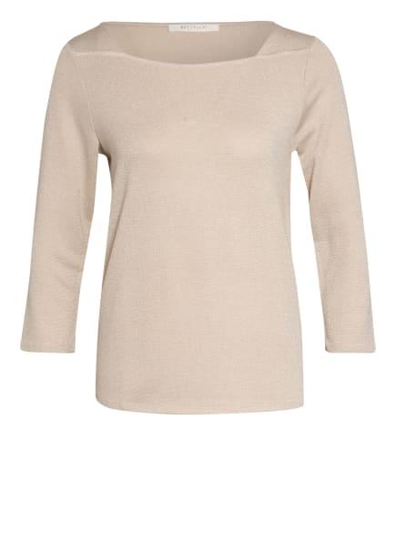 BETTY&CO Pullover mit 3/4-Arm und Glitzergarn, Farbe: CREME/ SILBER (Bild 1)