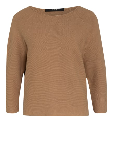 SET Pullover mit 3/4-Arm , Farbe: HELLBRAUN (Bild 1)