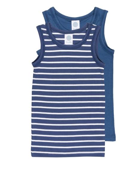 Sanetta 2er-Pack Unterhemden , Farbe: BLAU/ WEISS (Bild 1)