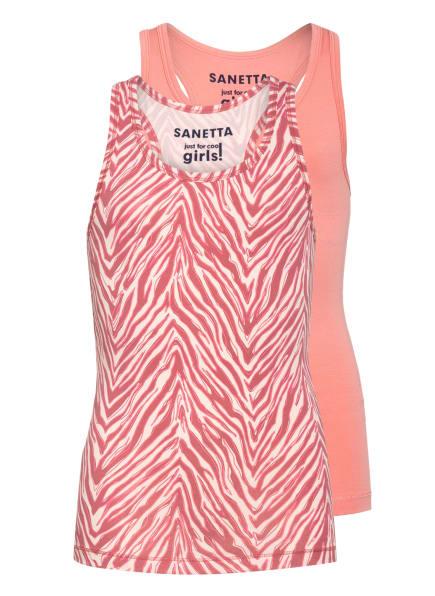 Sanetta 2er-Pack Tops, Farbe: HELLROT/ HELLROSA (Bild 1)
