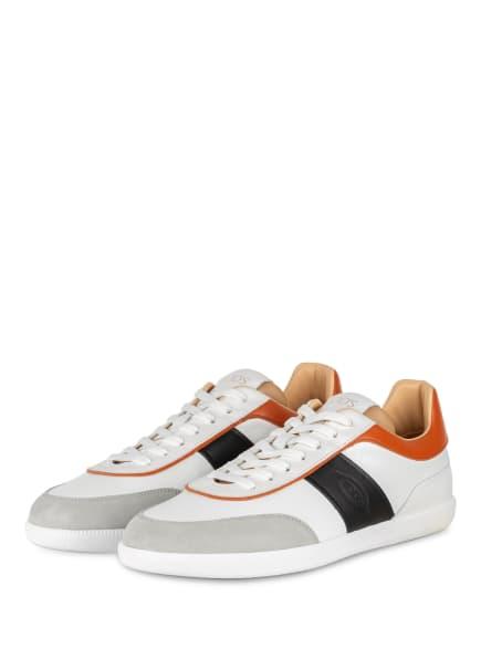 TOD'S Sneaker, Farbe: WEISS/ SCHWARZ/ DUNKELORANGE (Bild 1)