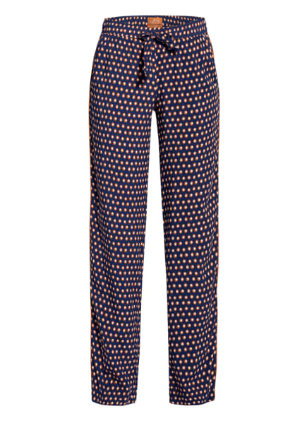 JOCKEY Lounge-Hose, Farbe: DUNKELBLAU/ COGNAC/ WEISS (Bild 1)