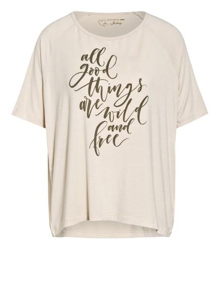 JOCKEY Lounge-Shirt , Farbe: CREME/ OLIV (Bild 1)