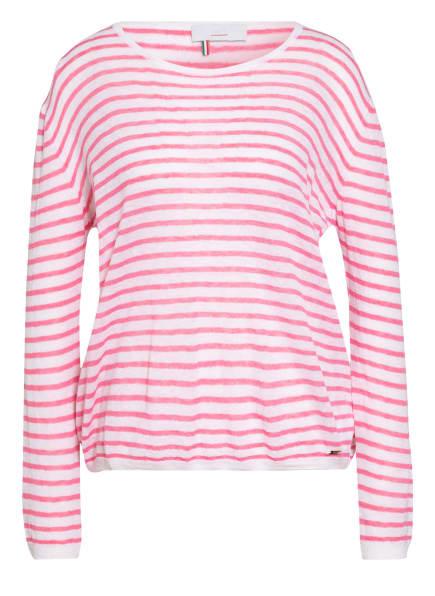 CINQUE Pullover CILUCIE mit Alpaka, Farbe: WEISS/ ROSA (Bild 1)