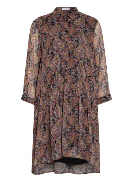 CINQUE Kleid CIDAVOLI mit 3/4-Arm, Farbe: SCHWARZ/ HELLORANGE/ ROSA (Bild 1)