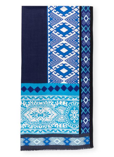 ETRO Cashmere-Schal mit Seide, Farbe: BLAU/ WEISS/ SCHWARZ (Bild 1)