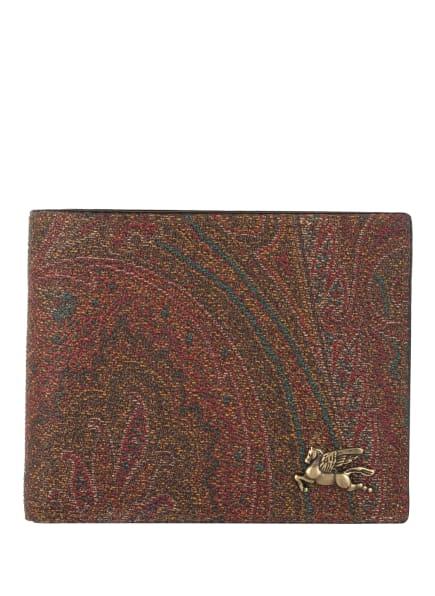 ETRO Geldbörse, Farbe: DUNKELROT/ PETROL/ DUNKELBRAUN (Bild 1)
