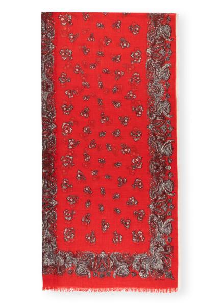 ETRO Cashmere-Schal BANDANA, Farbe: ROT/ DUNKELROT/ BEIGE (Bild 1)