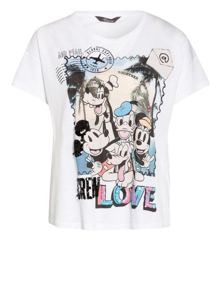Princess GOES HOLLYWOOD T-Shirt mit Paillettenbesatz, Farbe: WEISS/ SCHWARZ/ NUDE (Bild 1)