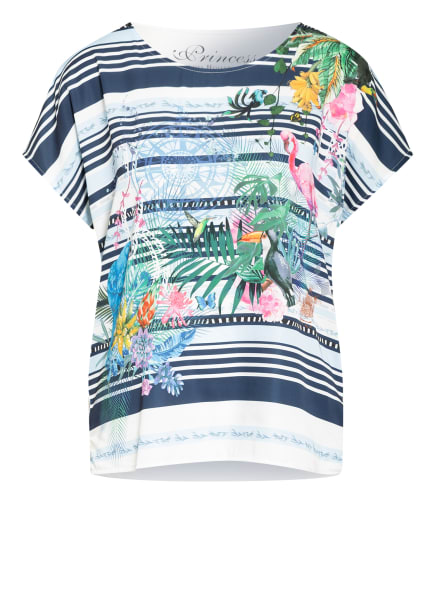 Princess GOES HOLLYWOOD T-Shirt im Materialmix, Farbe: WEISS/ DUNKELBLAU/ GRÜN (Bild 1)