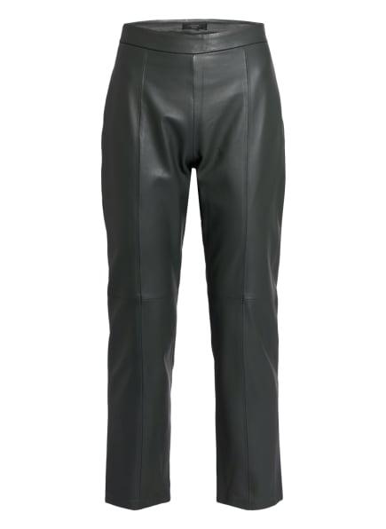 WEEKEND MaxMara 7/8-Hose aus Leder, Farbe: DUNKELGRÜN (Bild 1)