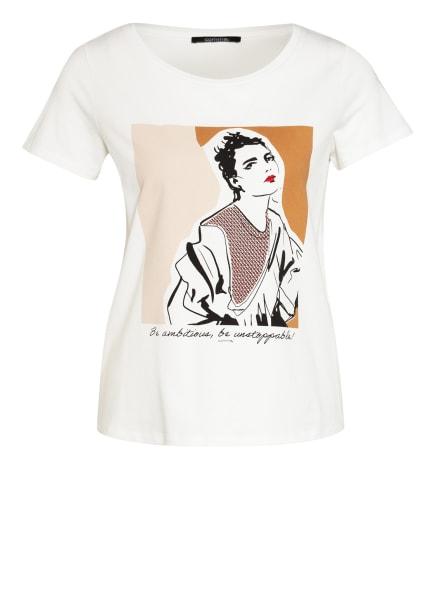comma T-Shirt, Farbe: WEISS/ CAMEL/ SCHWARZ (Bild 1)