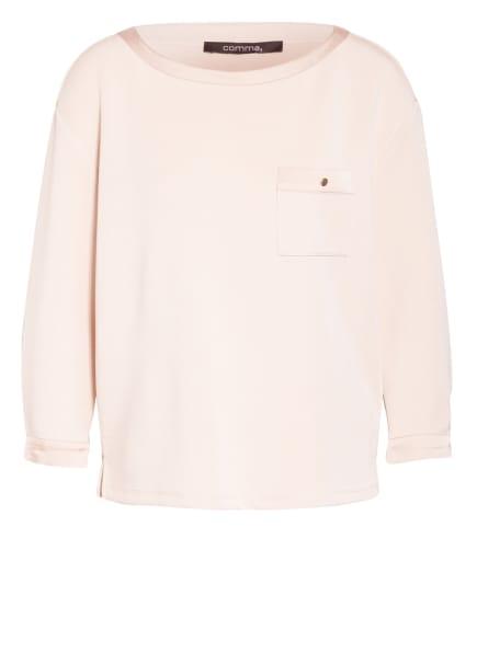 comma Sweatshirt mit 3/4-Arm, Farbe: BEIGE (Bild 1)