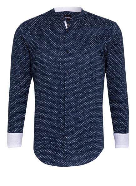 BOSS Leinenhemd ROLFO Slim Fit mit Stehkragen , Farbe: DUNKELBLAU/ WEISS (Bild 1)
