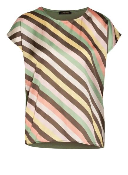 MORE & MORE Blusenshirt im Materialmix, Farbe: GRÜN/ HELLGELB/ NUDE (Bild 1)