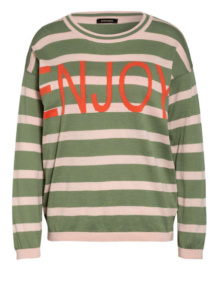 MORE & MORE Pullover, Farbe: GRÜN/ NUDE/ ORANGE (Bild 1)