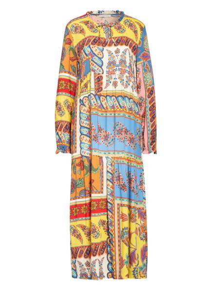lilienfels Kleid mit Rüschenbesatz, Farbe: GELB/ ORANGE/ BLAU (Bild 1)