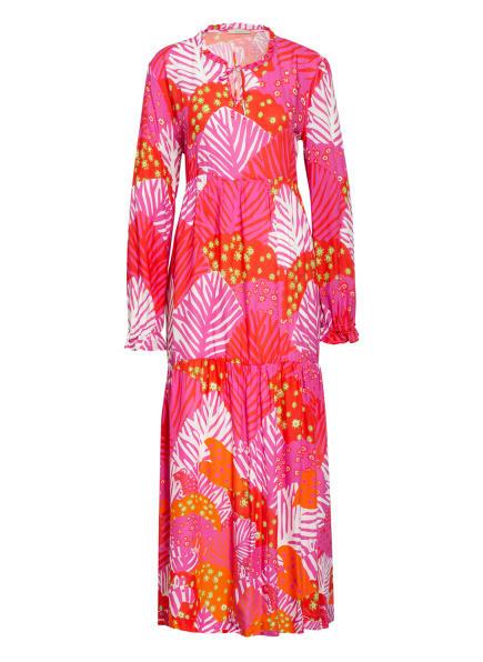 lilienfels Kleid , Farbe: LILA/ DUNKELORANGE/ WEISS (Bild 1)