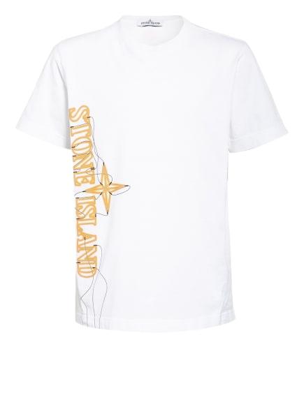 STONE ISLAND JUNIOR T-Shirt, Farbe: WEISS (Bild 1)