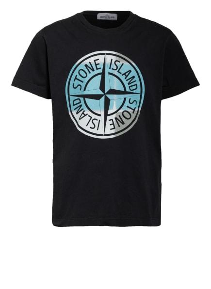 STONE ISLAND JUNIOR T-Shirt, Farbe: SCHWARZ/ HELLBLAU (Bild 1)