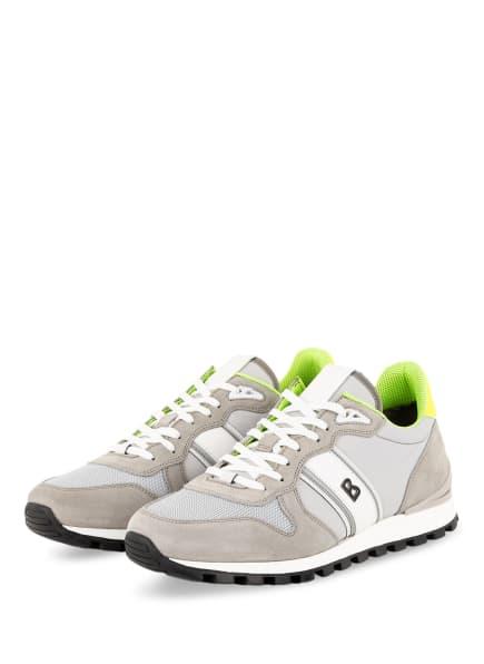 BOGNER Sneaker PORTO, Farbe: GRAU/ HELLGRAU/ NEONGELB (Bild 1)