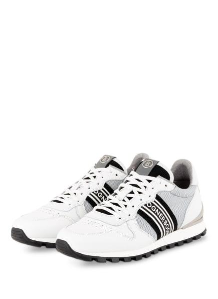 BOGNER Sneaker PORTO, Farbe: WEISS/ HELLGRAU/ SCHWARZ (Bild 1)