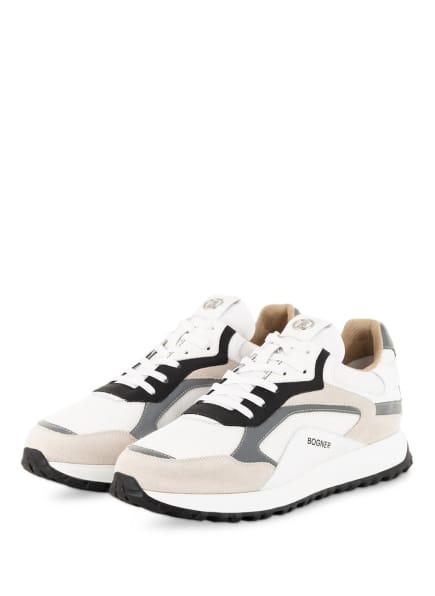 BOGNER Sneaker MICHIGAN, Farbe: WEISS/ CREME/ GRAU (Bild 1)
