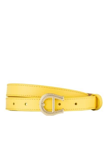 AIGNER Ledergürtel , Farbe: GELB (Bild 1)