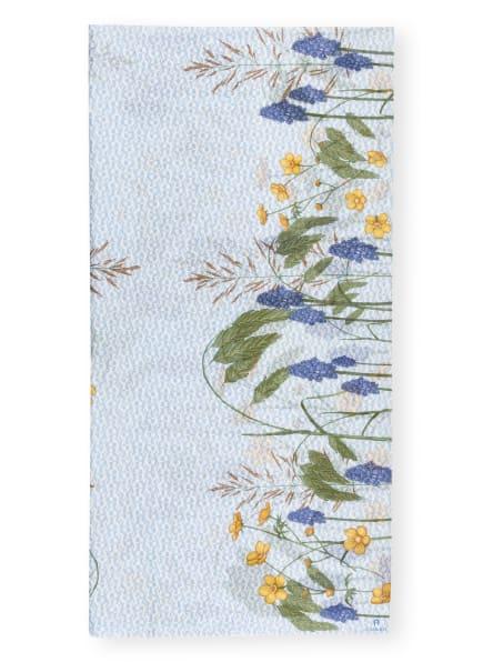 AIGNER Schal mit Seide, Farbe: WEISS/ HELLBLAU/ GRÜN (Bild 1)