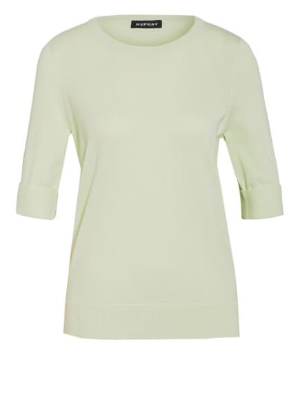 REPEAT Pullover mit 3/4-Arm, Farbe: HELLGRÜN (Bild 1)